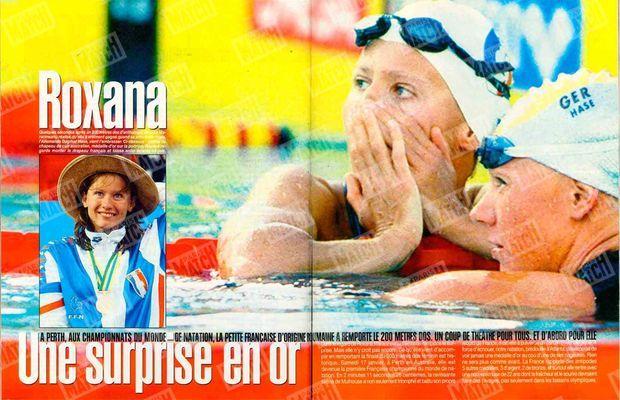 La surprise Roxana Maracineanu dans Paris Match, n°2540, daté du 29 janvier 1998