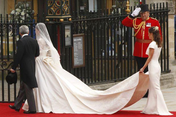 Pippa Middleton lors du mariage de sa soeur Kate avec le prince William, le 21 avril 2016