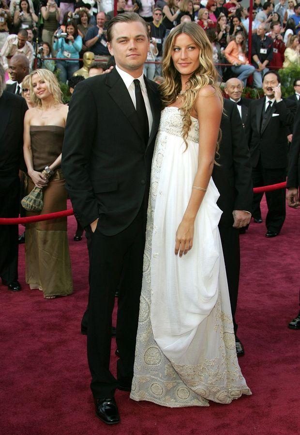 Leonardo DiCaprio et Gisele Bündchen aux Oscars en 2005