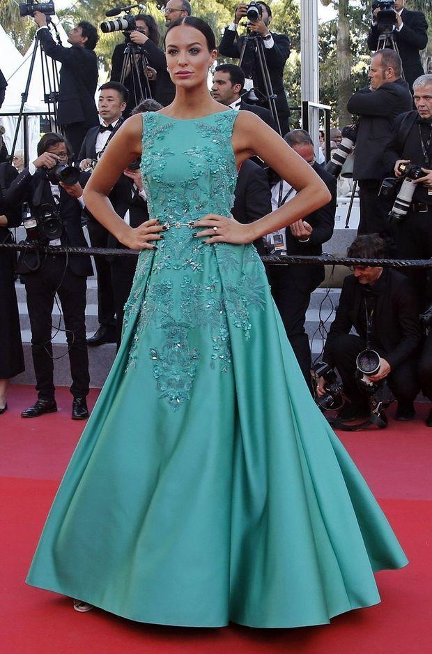 Jade Lagardère sur le tapis rouge de Cannes, le 17 mai 2018.