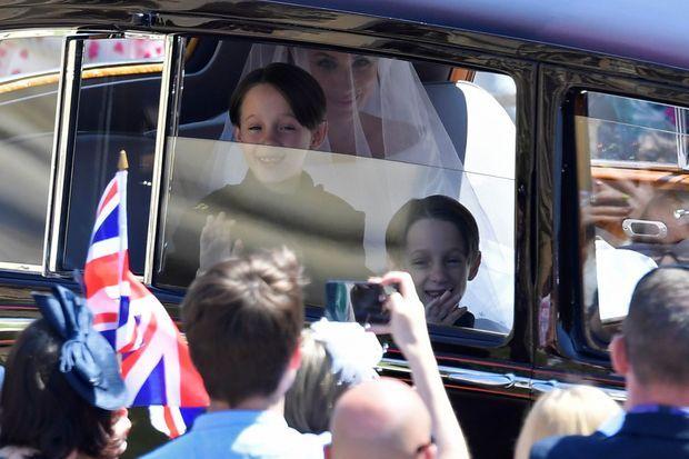 Les fils jumeaux de Ben et Jessica Mulroney, Brian et John, au mariage de Meghan et Harry en mai 2018