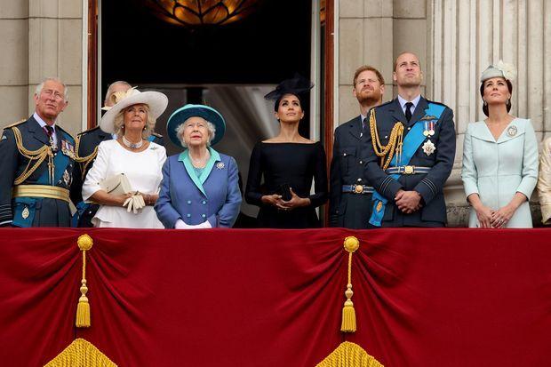 Les Windsor lors des célébrations du centenaire de la Royal Air Force à Londres le 10 juillet 2018