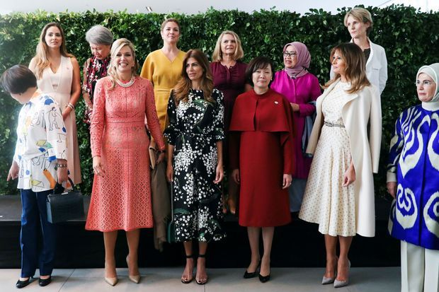 La reine Maxima des Pays-Bas avec les First Ladies à Buenos Aires, le 1er décembre 2018