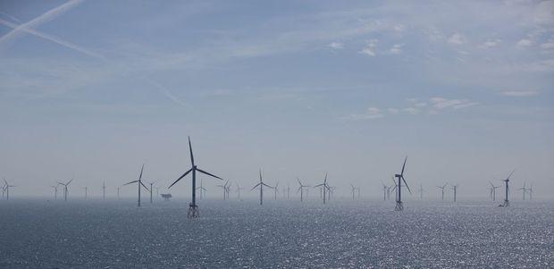 L'éolien en mer du Nord, près des côtes allemandes.