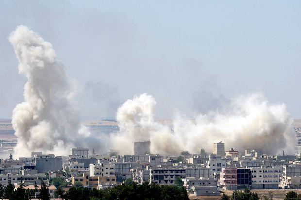 La ville de Kobané sous le feu de la folie jihadiste.