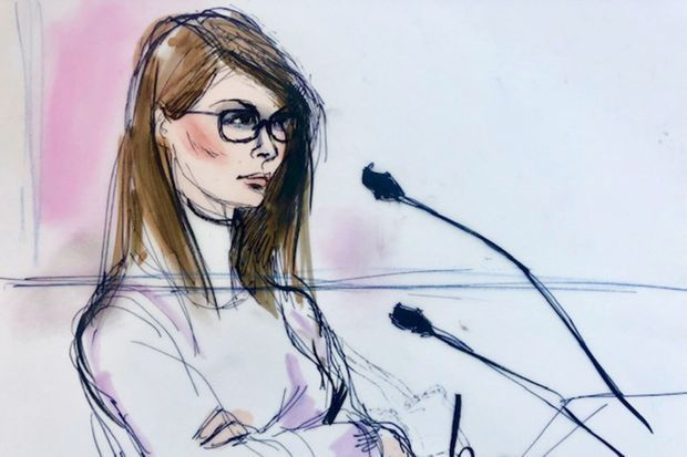 Illustration de Lori Loughlin lors de son audience le 14 mars 2019