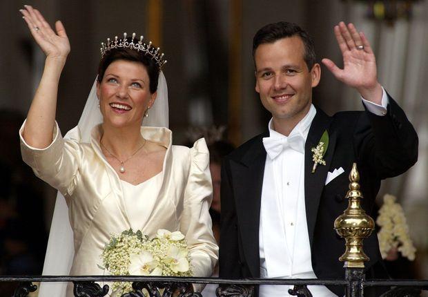 La princesse Märtha Louise de Norvège et Ari Behn le jour de leur mariage, 24 mai 2002