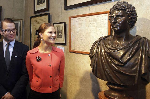 La princesse Victoria de Suède et le prince Daniel au musée Bernadotte à Pau, le 28 septembre 2010