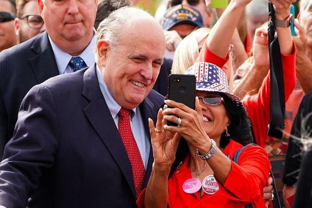 Rudy Giuliani, l'actuel avocat personnel de Donald Trump.