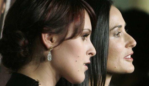 Rumer Willis et Demi Moore en 2009-