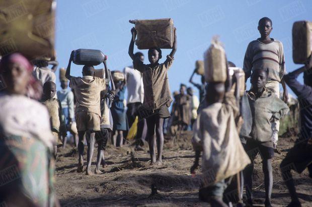 Le camp de réfugiés rwandais de N'Gale en Tanzanie.