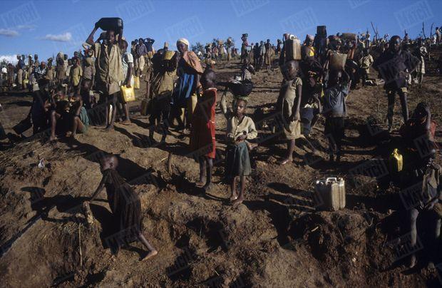 Le camp de réfugiés rwandais de N'Gale en Tanzanie, mai 1994.