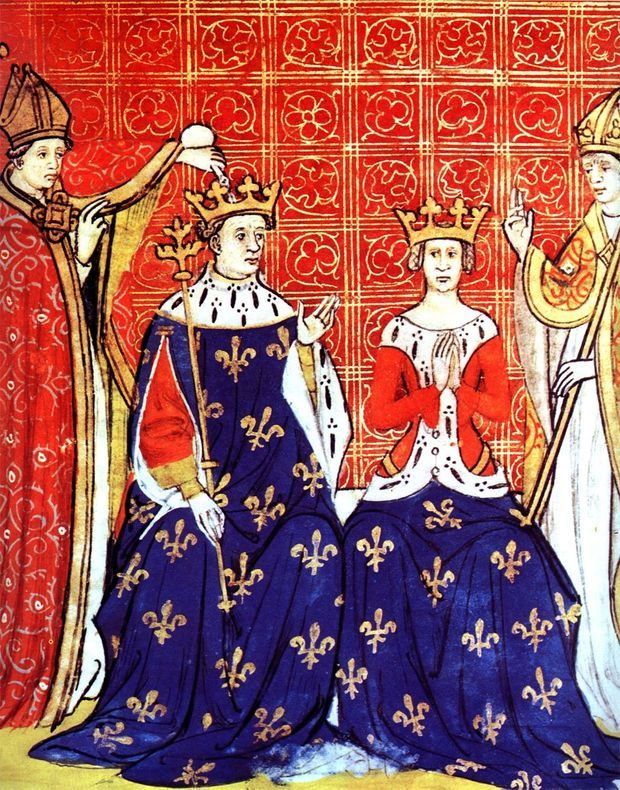 Couronnement de Louis VIII et Blanche de Castille
