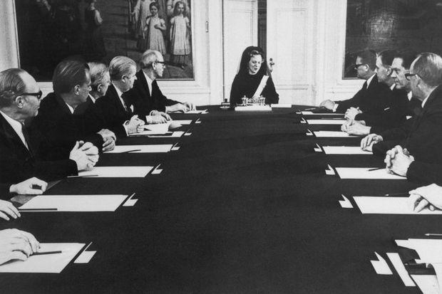 Premier Conseil d'Etat de la reine Margrethe II de Danemark, le 15 janvier 1972