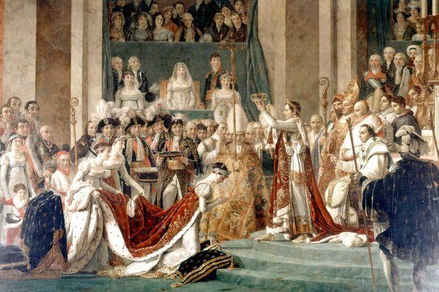 Le sacre de Napoléon par Jacques-Louis David (Château de Versailles)