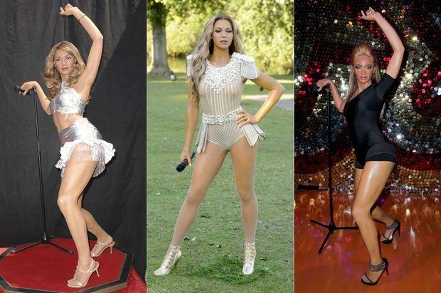 Trois statues de Beyoncé dans les différents musées Madame Tussaud dans le monde.
