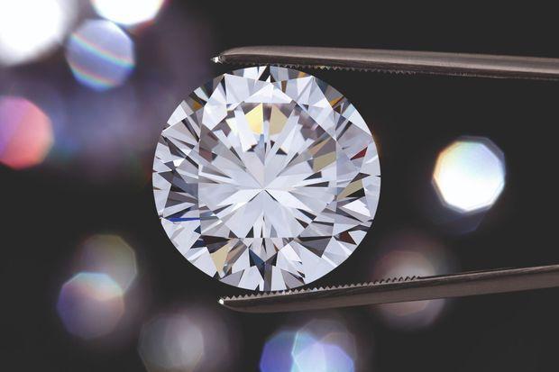 Un diamant naturel taille brillant dont la qualité est certifiée par les laboratoires internationaux