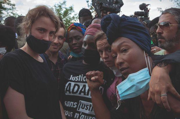 Les actrices ont rejoint le combat. Adèle Haenel, icône du mouvement #MeToo, Sara Forestier et Nadège Beausson-Diagne.