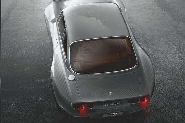 C'est une coque d'Alfa Giulia GT Tipo 105 qui sert de base à ce modèle électrifié.