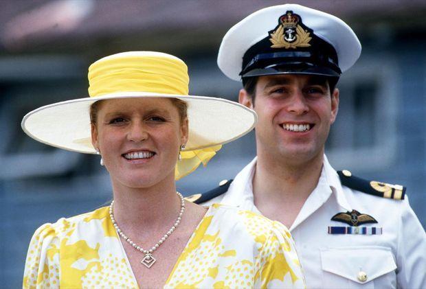 Sarah, duchesse d'York et le prince Andrew, en septembre 1989.