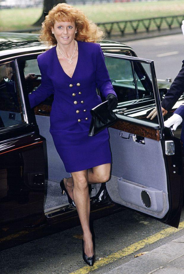 Sarah, duchesse d'York à Londres, en septembre 1989.