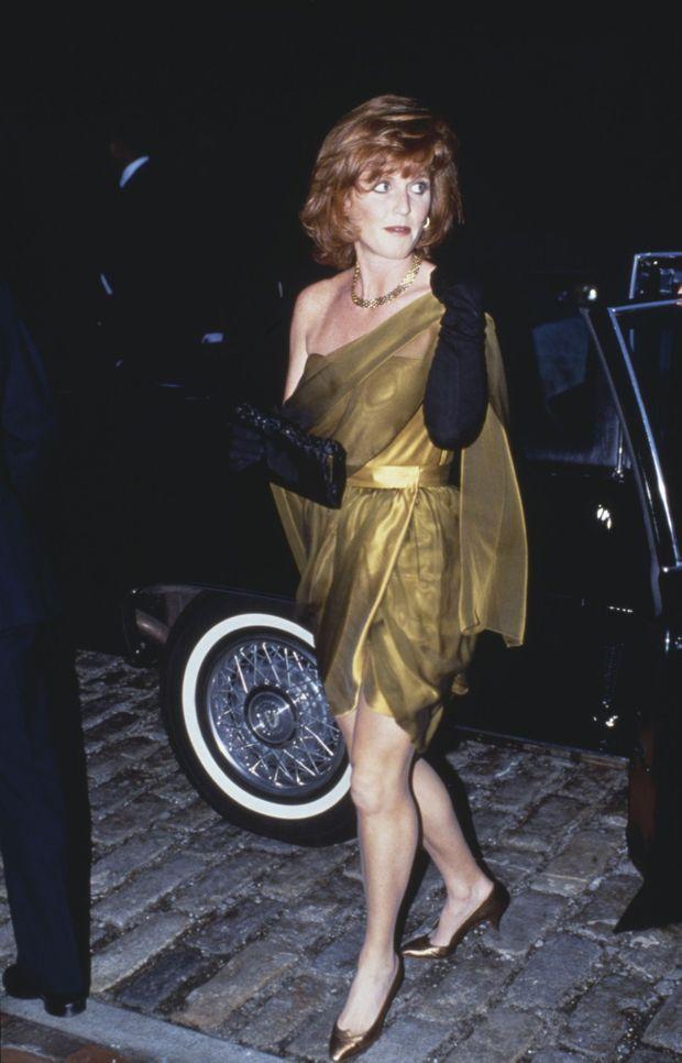 Sarah, duchesse d'York à Londres, le 20 octobre 1989.