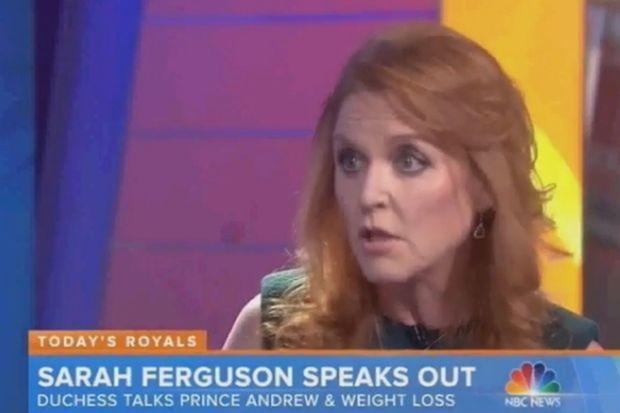 """Sarah Ferguson invitée dans """"The Today Show"""", le 13 janvier 2015"""