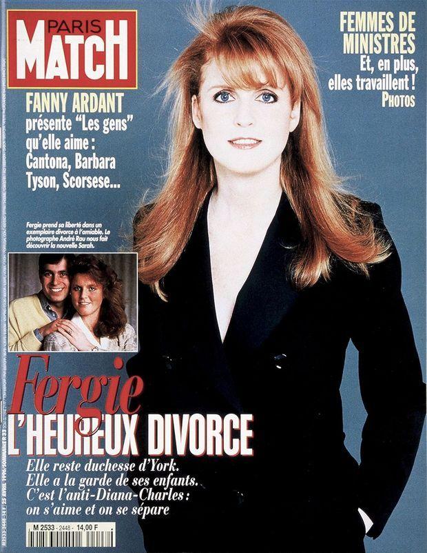 Sarah Ferguson en couverture de Paris Match n°2448, daté du 25 avril 1996
