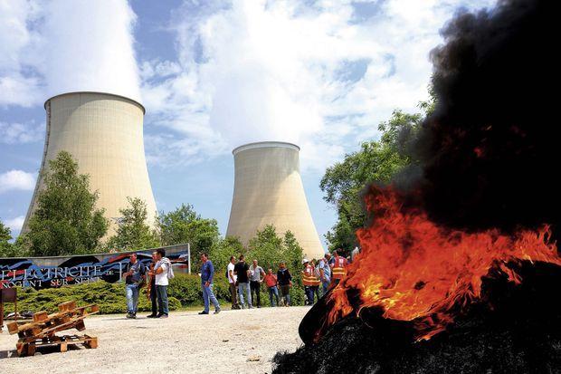 Les employés d'EDF occupent la centrale nucléaire de Nogent-sur-Seine, le 26 mai.