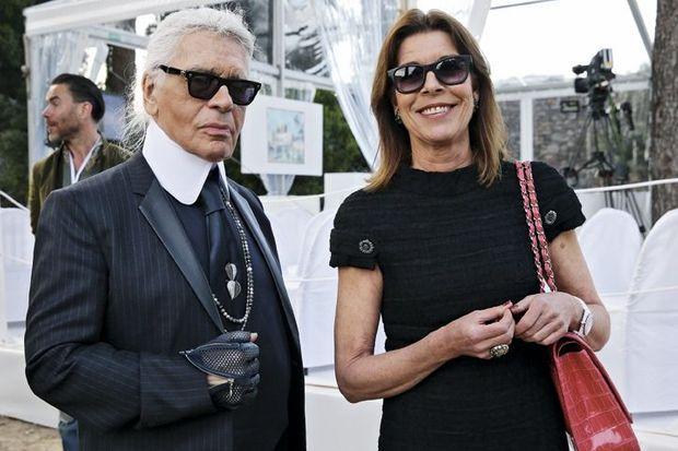 Karl Lagerfeld, directeur artistique du festival et la princesse Caroline de Hanovre, membre du jury.