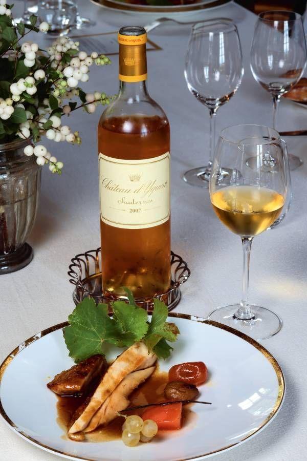 Yquem 2007 se marie à la perfection avec une volaille cuite en cocotte et ses petits légumes et fruits d'automne.