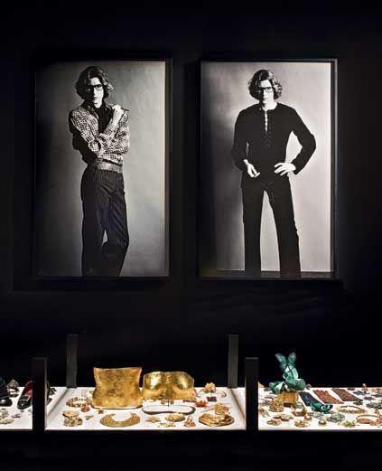 Le cabinet de curiosités, salle YSL, musée Yves Saint Laurent de Marrakech.