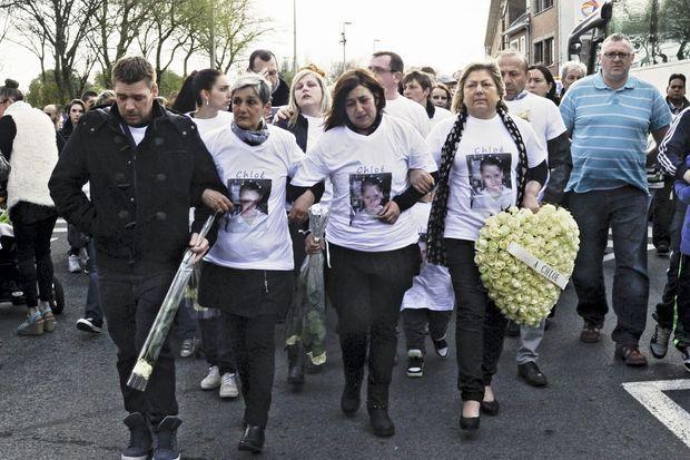 Au lendemain du drame, jeudi 16 avril, ils sont 5000 à défiler pour Chloé.