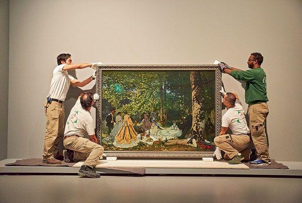 """Le célèbre """"Déjeuner sur l'herbe"""", de Monet."""