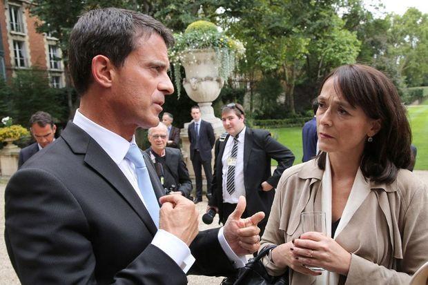 Avec Manuel Valls à Matignon le 4 septembre dernier.