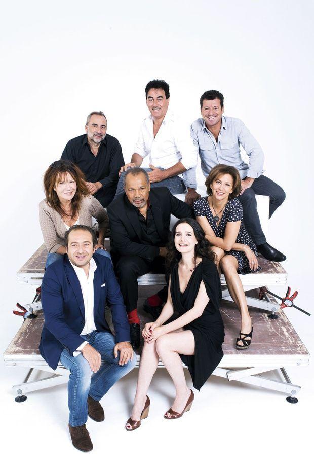 Autour de Graig Germain (au centre) : Patrick Timsit, Clémentine Célarié, Antoine Duléry, Eric Carrière, Francis Ginibre, Corinne Touzet et Chloé Lambert.