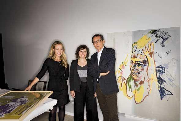 """Diamna Widmaier, Emilie Bouvard, et Didier Ottinger, les trois commissaires de """"Picasso.mania""""."""