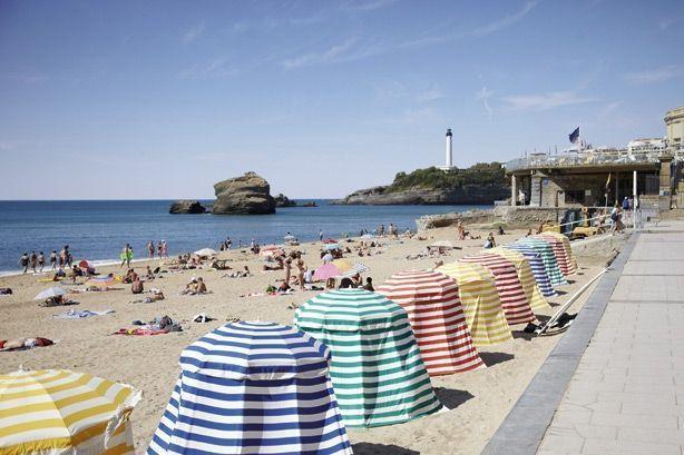 Au cœur de la ville, la Grande Plage de Biarritz.