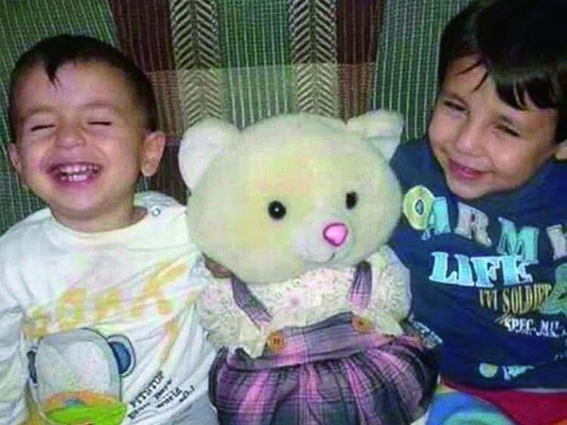 Aylan (à g.) 3 ans, et son frère aîné, Ghaleb, 5 ans.