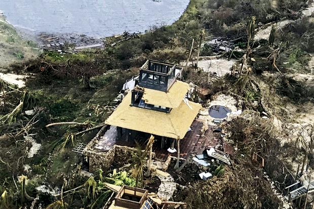 La propriété de Richard Branson, à Necker, son île privée dans les îles Vierges britanniques, le 12 septembre.