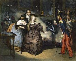 Emprisonnée à la citadelle de Blaye, en Gironde, Caroline accouchera d'une fille.
