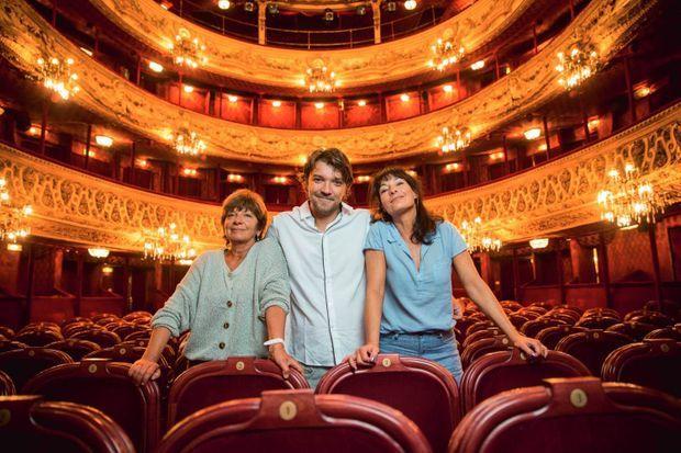 """Au théâtre du Palais-Royal, où """"La cage aux folles"""" a été créée le 1er février 1973."""
