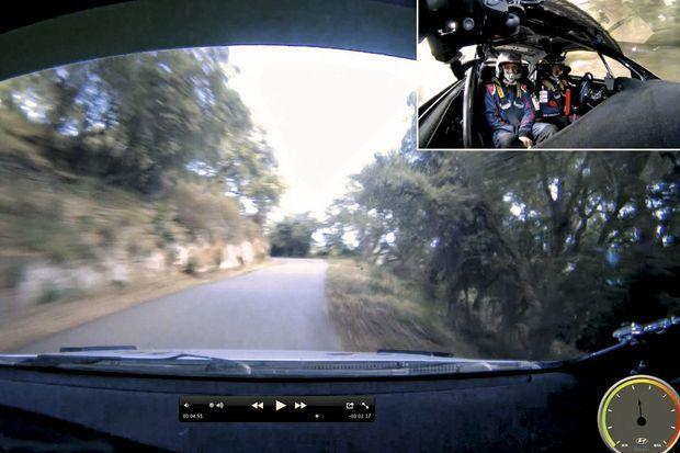 Caméra embarquée sur les routes de Corse.