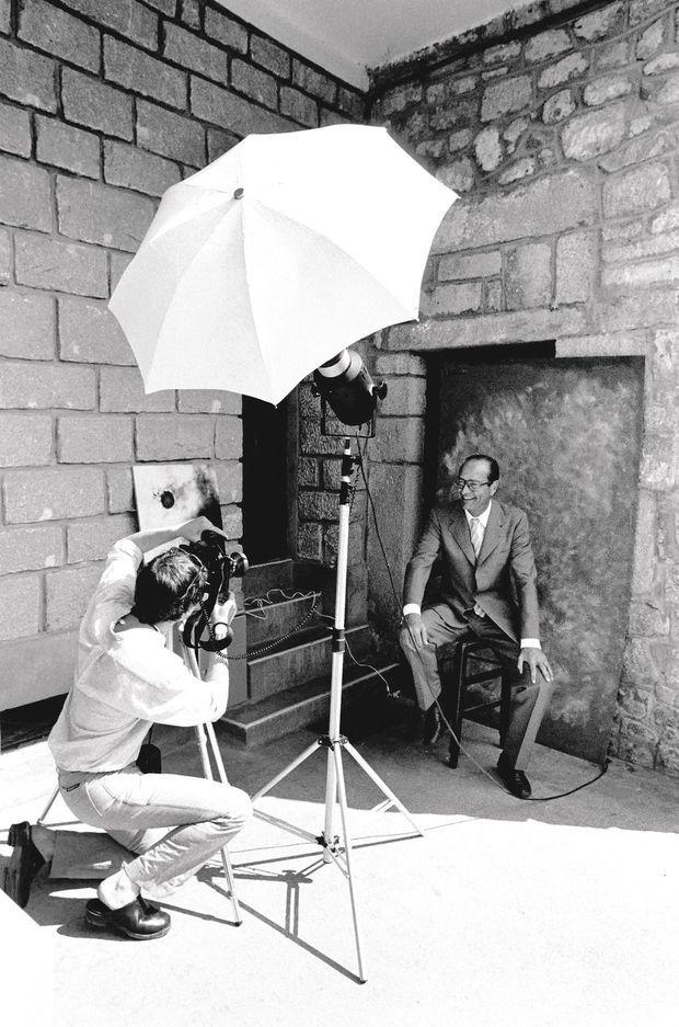 En août 1981, à Meymac, lors d'une séance photo avec Christian Vioujard.