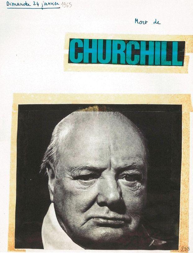 Dimanche 24 janvier 1965 « Mort de Churchill. »
