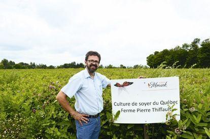 Daniel Allard, agriculteur, a tout misé sur le « soyer du Québec ».