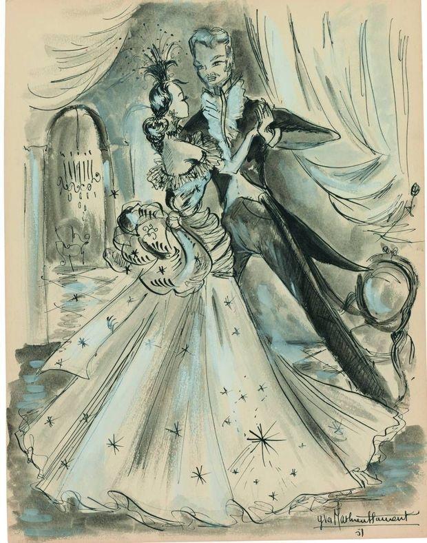 """Madame Bovary. Dessins de jeunesse d'Yves Saint Laurent"", Gustave Flaubert."
