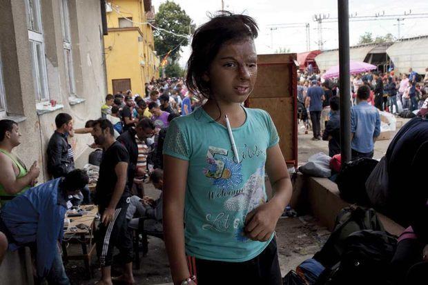 Haya, 10 ans, défigurée par une bombe.