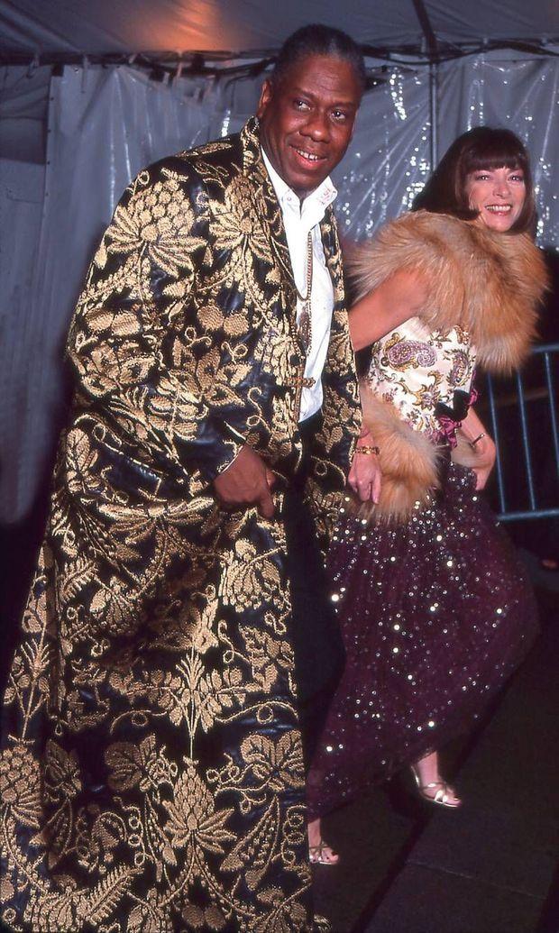 1999, au gala du Metropolitan Museum of Art, à New York, avec Anna Wintour.