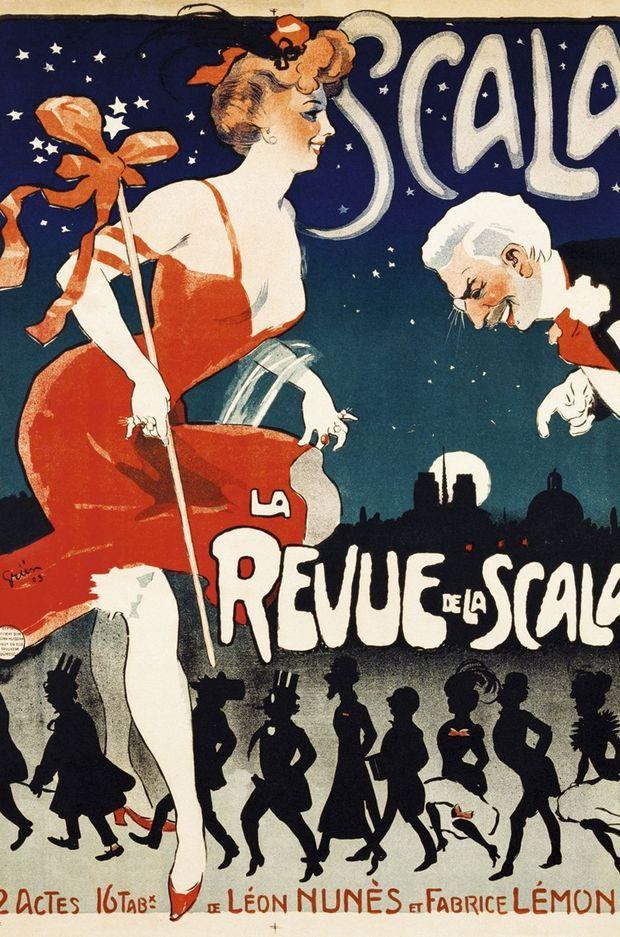 L'affiche de la revue de la Scala en 1905, illustrée par Jules-Alexandre Grün.